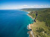 Vista della linea costiera irregolare Fotografia Stock