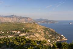 Vista della linea costiera in Ragusa Immagine Stock