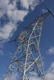 Vista della linea elettrica fotografia stock
