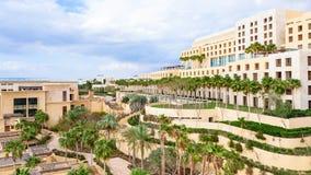 Vista della località di soggiorno di Kempinski sul mar Morto nell'inverno Immagine Stock Libera da Diritti