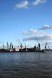 Vista della logistica al porto - serie Immagine Stock Libera da Diritti