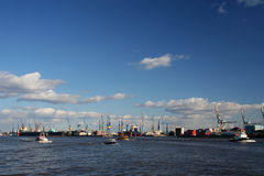 Vista della logistica al porto - serie (vista totale) Fotografia Stock Libera da Diritti
