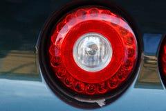 Vista della luce posteriore di arresto dell'automobile immagine stock libera da diritti