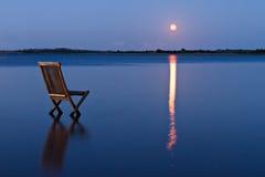 Vista della luna immagini stock libere da diritti