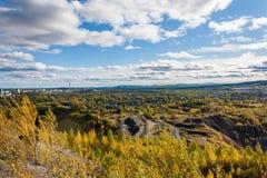 Vista della miniera del minerale di ferro Immagine Stock Libera da Diritti