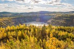 Vista della miniera del minerale di ferro Immagini Stock Libere da Diritti