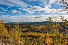 Vista della miniera del minerale di ferro Immagine Stock