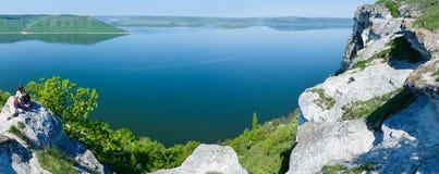 Vista della molla di Bakota dall'Ucraina alta immagini stock