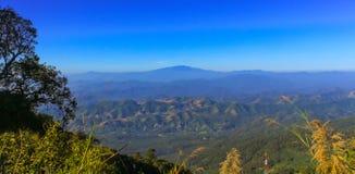 vista della montagna al pui di doi, Chaingmai Fotografia Stock Libera da Diritti
