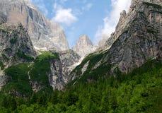 Vista della montagna Brenta Fotografia Stock Libera da Diritti