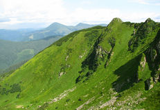 Vista della montagna carpatica Immagini Stock Libere da Diritti