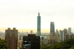 Vista della montagna dell'elefante la costruzione più alta del mondo Taip Fotografia Stock