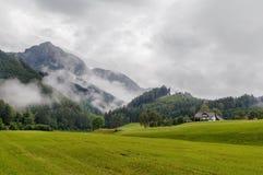 Vista della montagna delle alpi, Austria Fotografie Stock Libere da Diritti