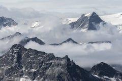 Vista della montagna di Kitzsteinhorn Immagini Stock Libere da Diritti