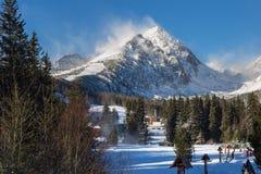 Vista della montagna di Predne Solisko in Slovacchia Immagine Stock Libera da Diritti