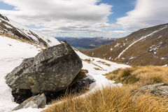 Vista della montagna di Remarkables Immagine Stock
