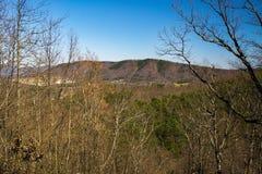 Vista della montagna di Roanoke da Buck Mountain Overlook fotografie stock libere da diritti