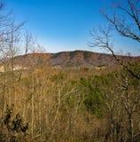 Vista della montagna di Roanoke da Buck Mountain Trail Loop immagine stock libera da diritti