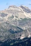 Vista della montagna di Sassolungo, dolomia italiane Fotografie Stock Libere da Diritti