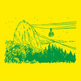 Vista della montagna di Sugarloaf in Rio de Janeiro Fotografia Stock Libera da Diritti
