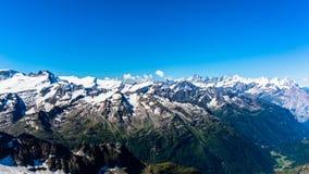 Vista della montagna di Titlis Immagini Stock