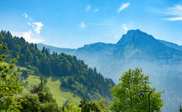 Vista della montagna in Haute Savoie, alpi, Francia Immagine Stock Libera da Diritti