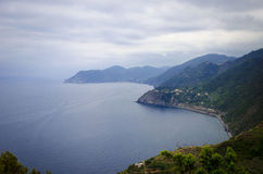 Vista della montagna italiana Ridge nella distanza Fotografia Stock