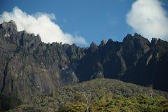 Vista della montagna Malesia di Kinabalu fotografia stock libera da diritti