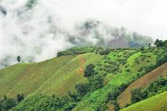 Vista della montagna nel distretto di Pua Fotografia Stock
