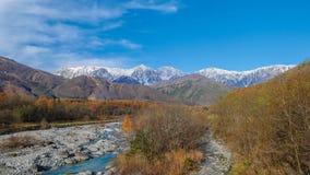 Vista della montagna nel Giappone Fotografia Stock Libera da Diritti
