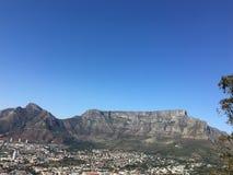 Vista della montagna della tavola a Città del Capo immagine stock libera da diritti