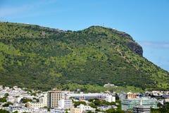 Vista della montagna vicino alla città di Port Louis Fotografia Stock Libera da Diritti