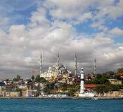Vista della moschea a Costantinopoli Immagine Stock