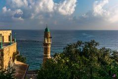 Vista della moschea del mare nella vecchia città di Giaffa Fotografia Stock Libera da Diritti