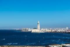 Vista della moschea di Hassan II Immagine Stock Libera da Diritti