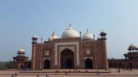 Vista della moschea di Taj Mahal Immagini Stock Libere da Diritti