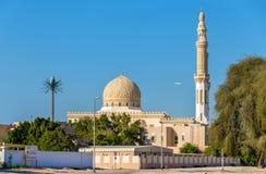 Vista della moschea di Zabeel nel Dubai fotografia stock