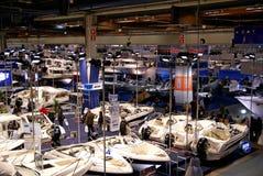 Vista della mostra 2009 di esposizione della barca di Helsinki Fotografia Stock