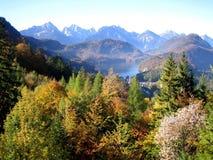 Vista della natura dal castello di Neuschwanstein, Germania Fotografie Stock Libere da Diritti