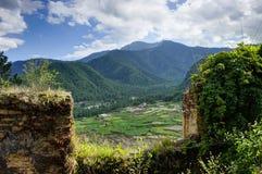Vista della natura del Bhutan Immagini Stock