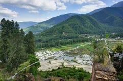 Vista della natura del Bhutan Immagine Stock Libera da Diritti