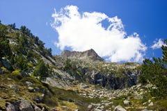 Vista della natura in Pyrenees francesi Fotografia Stock