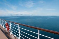 Vista della nave da crociera Fotografie Stock