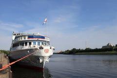 Vista della nave da crociera Fotografia Stock