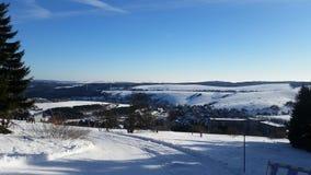Vista della neve Fotografie Stock
