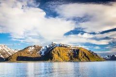 Vista della Norvegia del Nord vicino a Alta Fotografia Stock Libera da Diritti