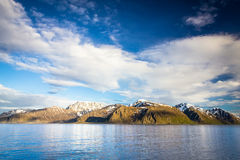 Vista della Norvegia del Nord vicino a Alta Immagine Stock