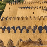 Vista della parete antica di Khiva, nell'Uzbekistan fotografia stock libera da diritti