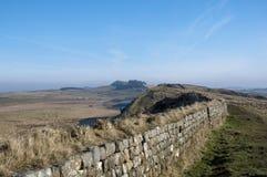 Vista della parete di Hadrians Fotografia Stock