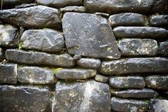 Vista della parete di pietra Fotografia Stock